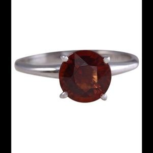 Jewelry - red zircon 14k white gold solitaire ring